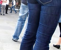 Jeans fetish lover shot these babes