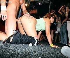 Amateur Babes Bare All at Real Prague Stripper Club Party