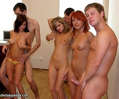 Stripdance turns in fuck orgy
