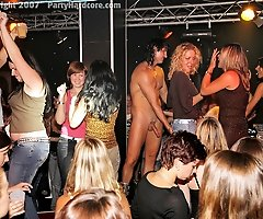 Amateur Babes at Strip Show Go Wild For Buff Masked Stripper Dude