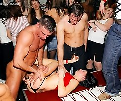 Cumshots Rain Down on Amateur Chicks as CFNM Stripper Party Comes to an Action Filled Finish