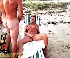 Overseen sex at nudist beach