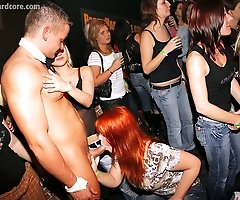 Over 70 Horny Drunk Chicks Go Wild on Camera at Male Stripper Party