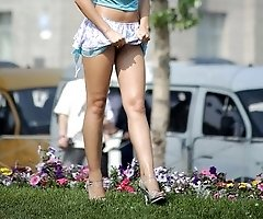 Incredible dolls' upskirt shot in public places